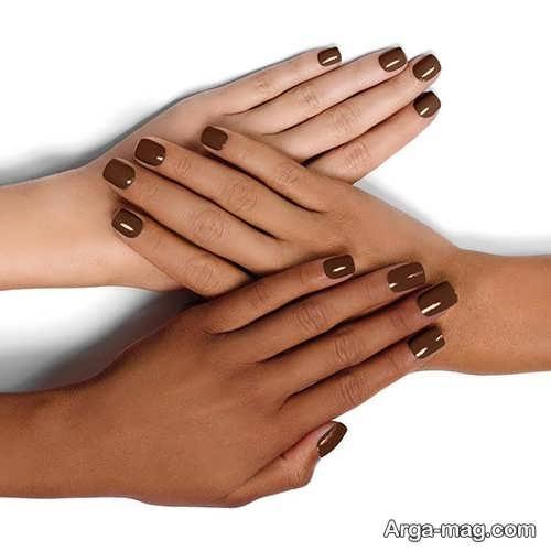 طراحی ناخن ساده برای پوست سبزه