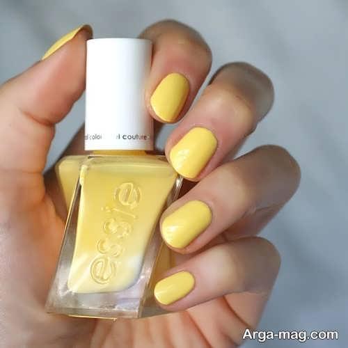 لاک زرد برای پوست سبزه