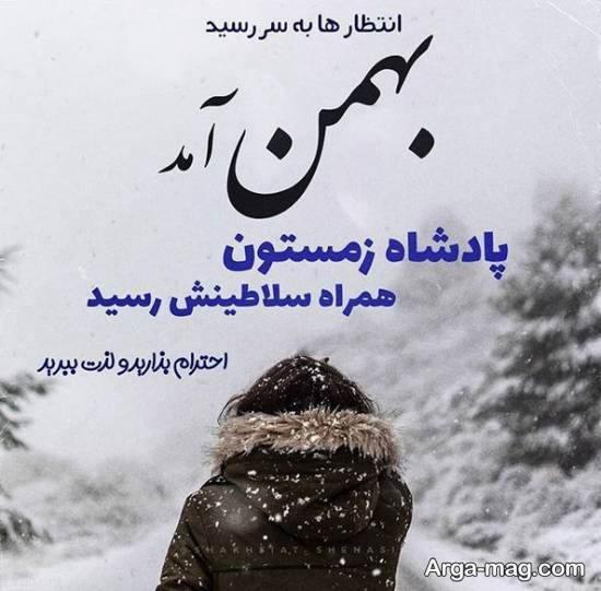 انواع نمونه های زیبای عکس نوشته بهمن ماه