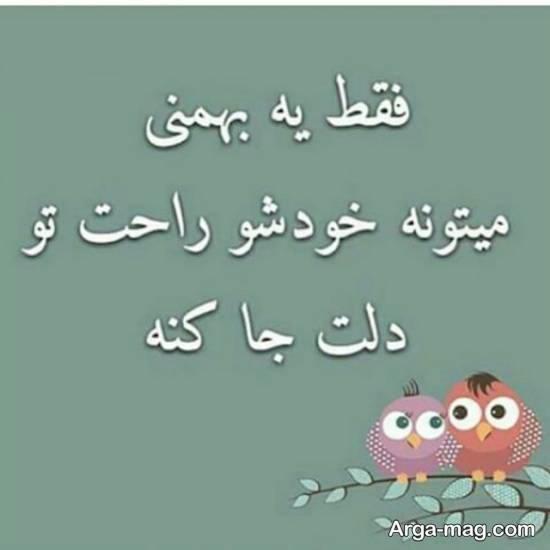 زیباسازی پروفایل با عکس متنی بهمن ماه