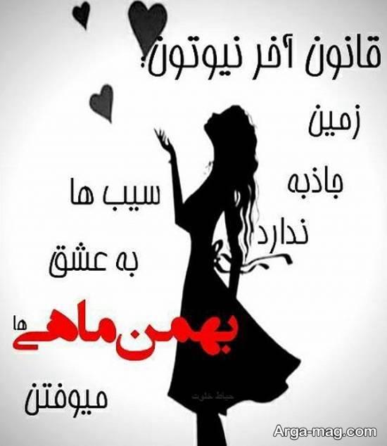 ایده هایی شیک و روکم کنی ازعکس نوشته بهمن ماه