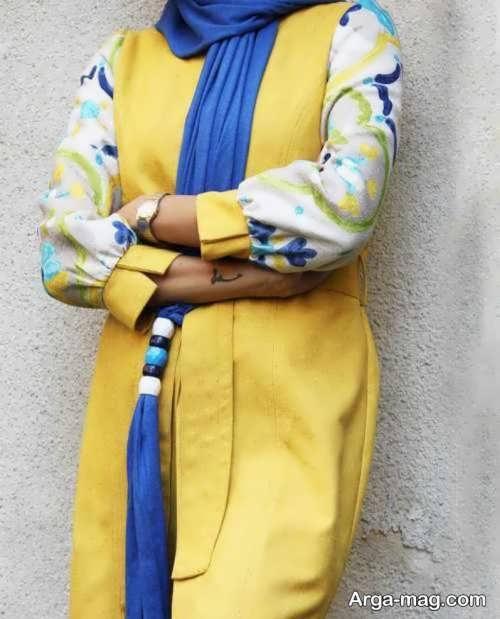 ست لباس زرد و آبی