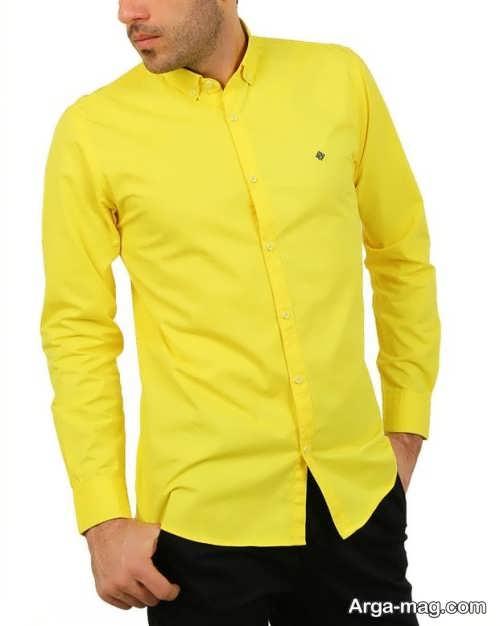 ست لباس مردانه مشکی و زرد