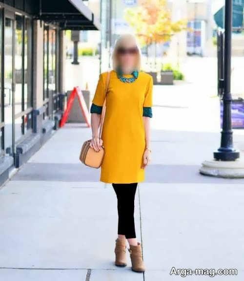 ست لباس زرد و مشکی
