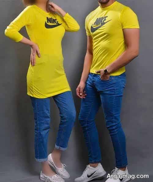 ست لباس زرد زنانه و مردانه