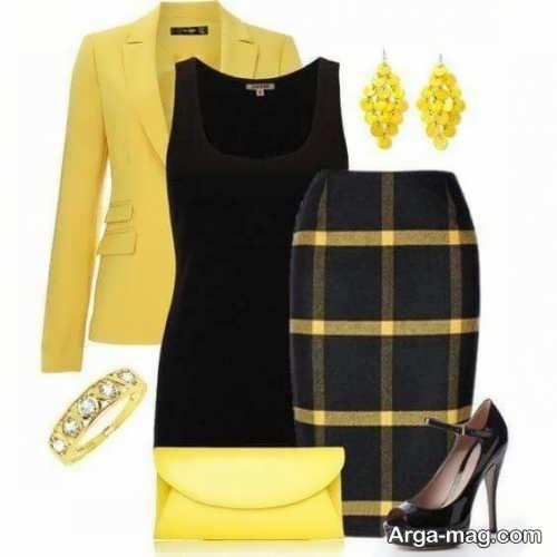 ست لباس زرد زمستانی