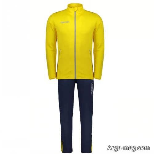 ست لباس اسپرت با رنگ زرد
