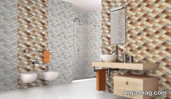 مدل کاشی سرویس بهداشتی برای دیوارها و کف حمام