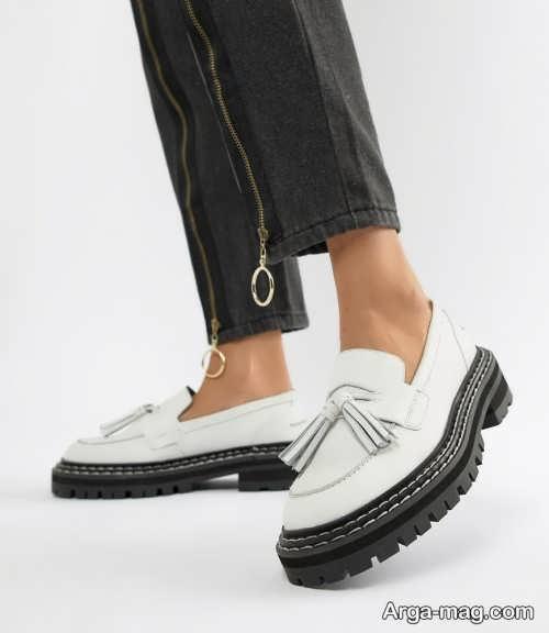 کفش دو رنگ زنانه