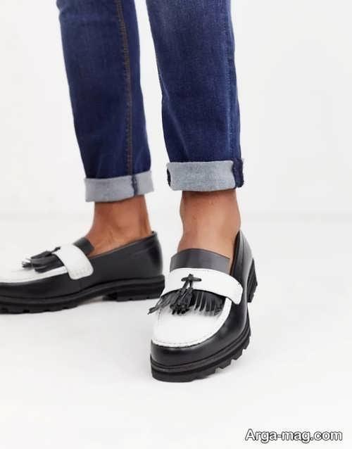مدل کفش مشکی و سفید زنانه