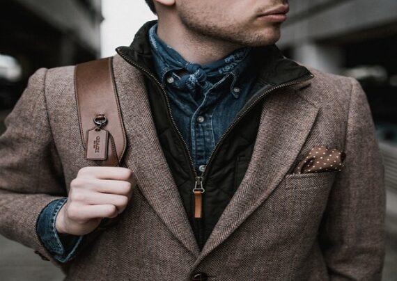 کت مردانه قهوه ای برای زمستان و پاییز