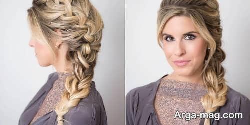 بافت مو زیبا زنانه
