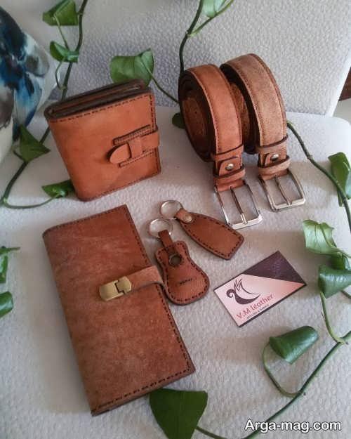 ست کمربند و کیف مردانه شیک و زیبا