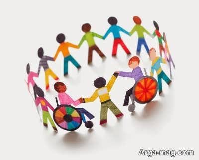 جمله هایی برای معلولین