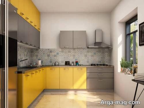 دکوراسیون آشپزخانه با رنگ سال 2021