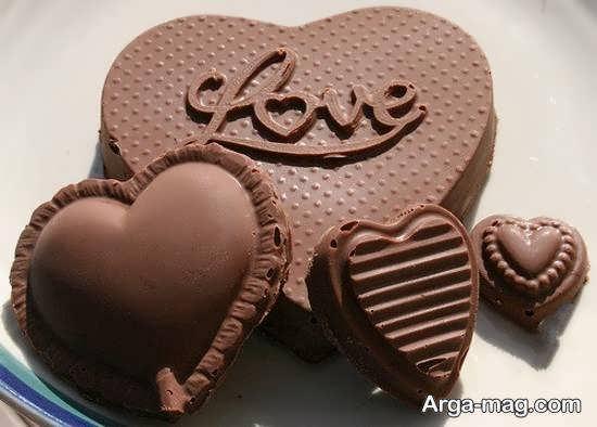 تزیینات شکلات برای مناسبت روز ولنتاین