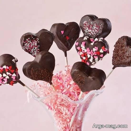 ایده های جذاب تزیین شکلات به شکل قلبی