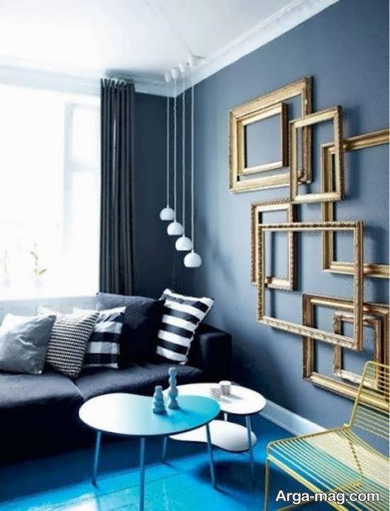ایده های تزیین دیوار با قاب خالی برای منازل مدرن