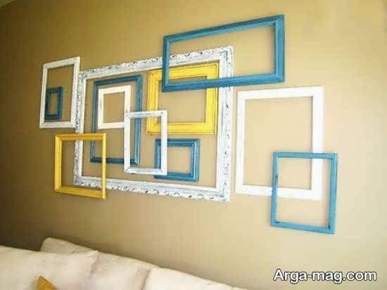 انواع نمونه های زیبا و شیک تزیین دیوار با قاب خالی