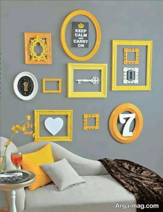 ایده هایی نو و جالب از طراحی دیوار با قاب خالی