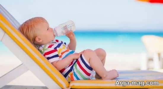 علائم کم آبی نوزادان