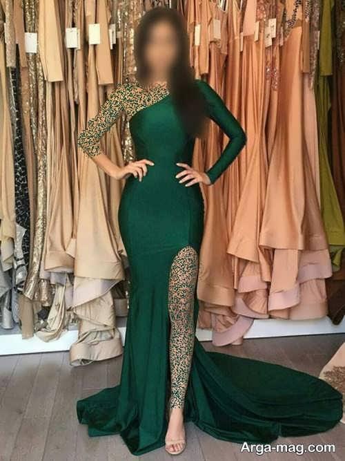 مدل لباس مجلسی یشمی زنانه