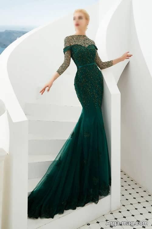 لباس بلند و یشمی زنانه