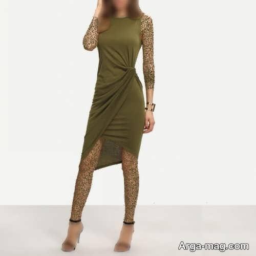 لباس کوتاه زنانه یشمی