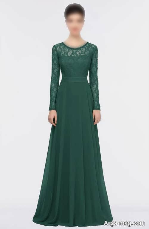 لباس آستین دار یشمی