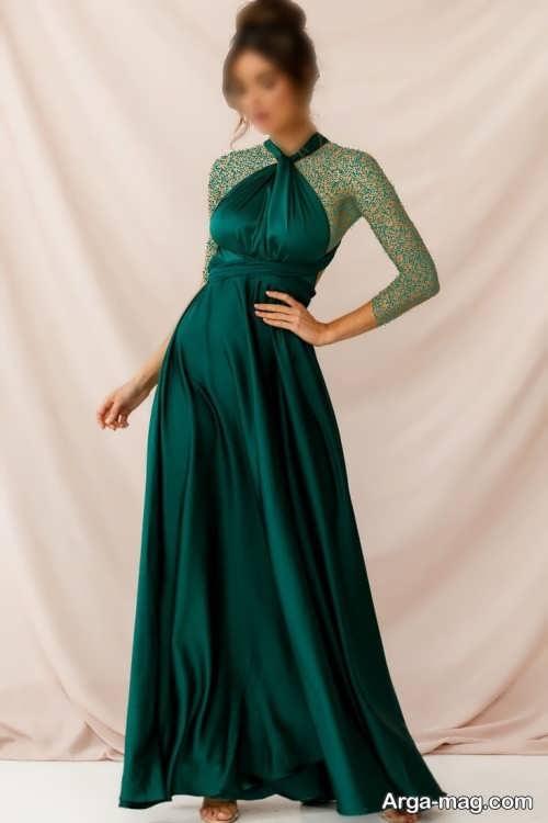 لباس بلند مجلسی یشمی