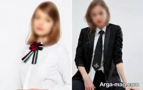 کراوات طرح دار و شیک دخترانه
