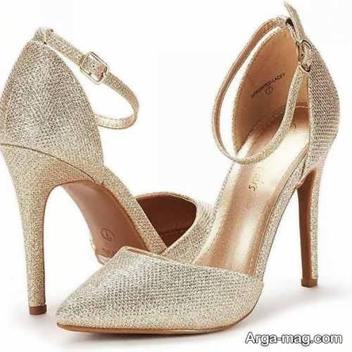 کفش طلایی شیک و زیبا