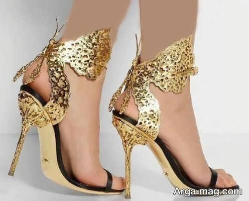 کفش مجلسی طلایی