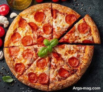 آموزش روش تهیه پیتزا آمریکایی