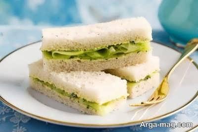 دستور تهیه ساندویچ لیمو و خیار
