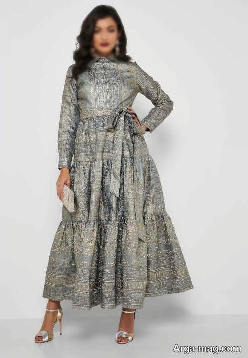 لباس مجلسی بلند ژاکارد