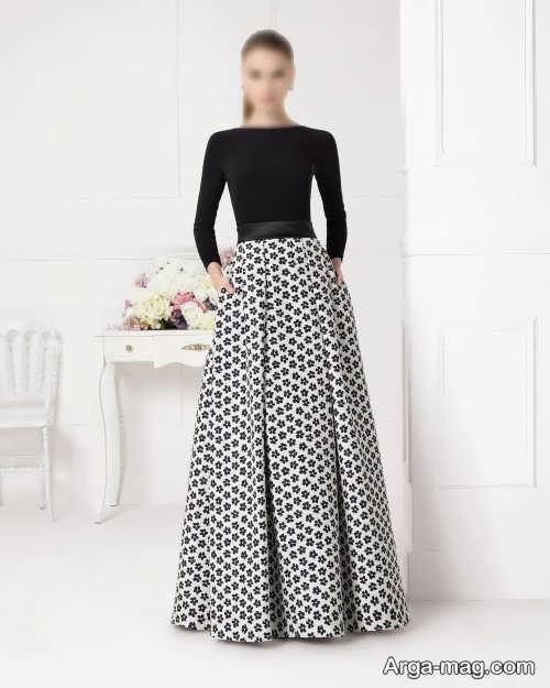 مدل لباس دو تکه ژاکارد
