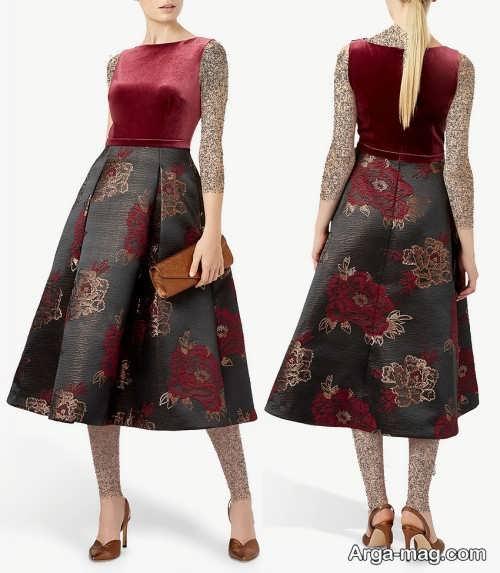 مدل لباس مجلسی ژاکارد شیک و زیبا