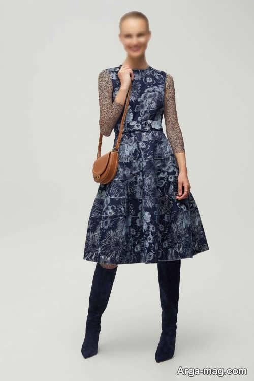 مدل لباس مجلسی ژاکارد