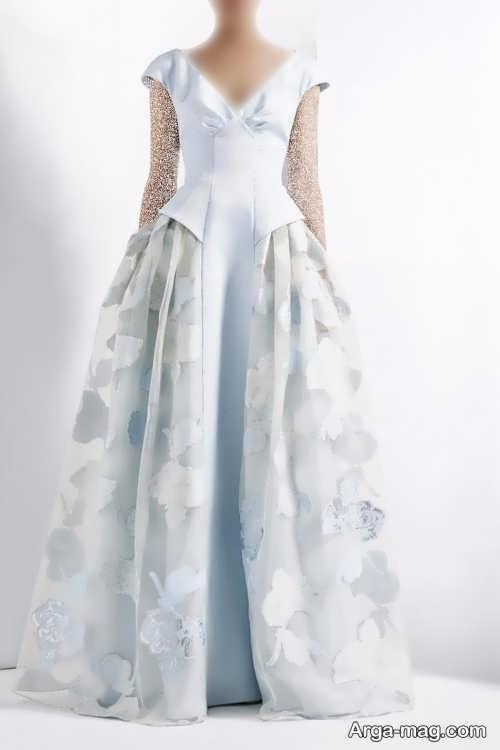 مدل لباس رنگ روشن ژاکارد