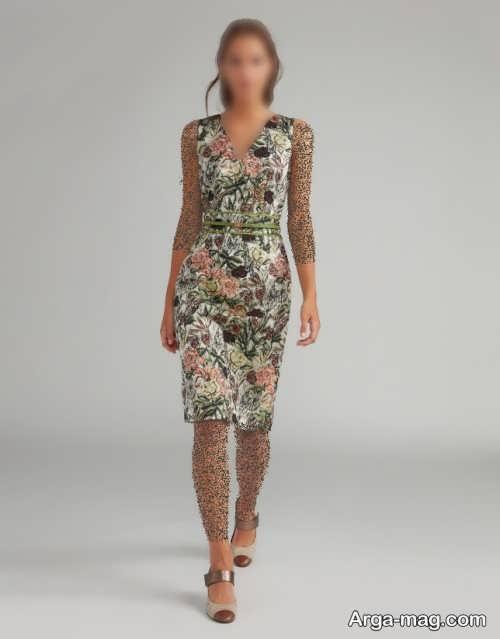 لباس طرحدار ژاکارد