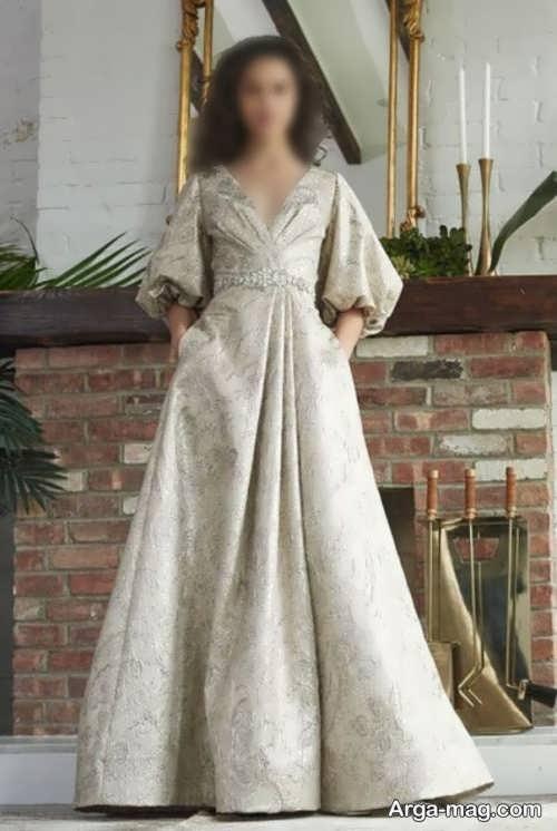 لباس رنگ روشن ژاکارد