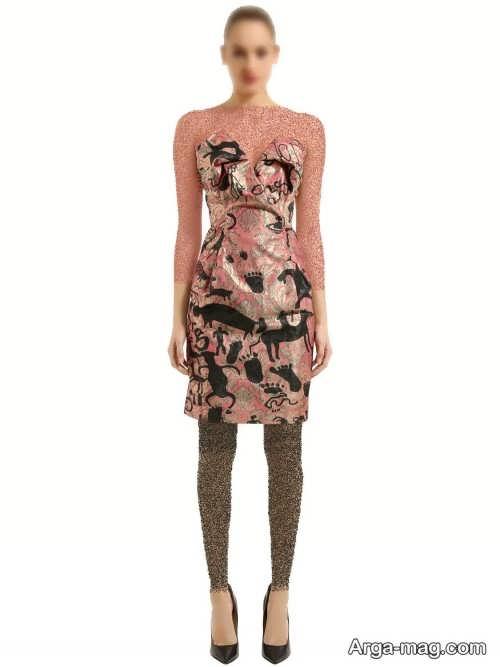 مدل لباس مجلسی طرحدار