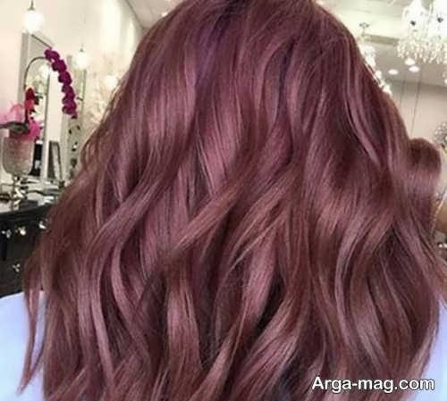 مدل رنگ مو شرابی