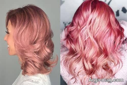 رنگ مو شیک شرابی روشن