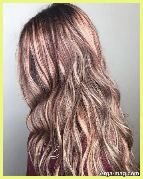 رنگ موی روشن شرابی
