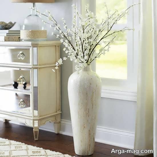 انواع مدل گلدان بلند برای طراحی منازل کوچک