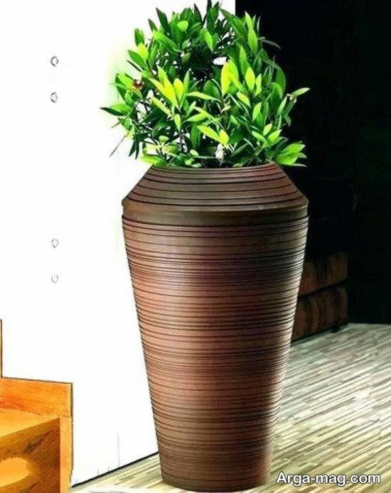 الگوهایی زیبا و کاربردی از گلدان بلند