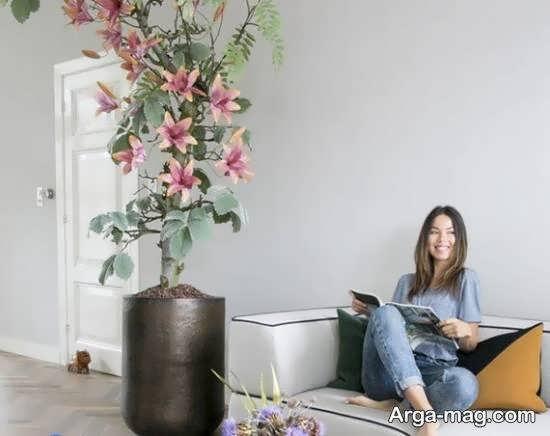 ایده هایی زیبا و جذاب از مدل گلدان بلند