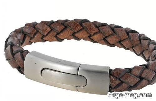 دستبند چرم زیبا و شیک